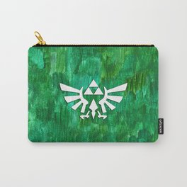 Zelda Triforce Painting Carry-All Pouch