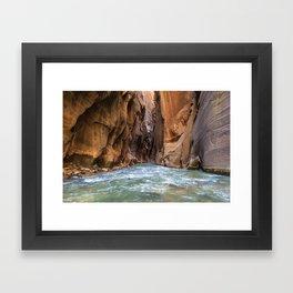 Swept Away (The Narrows, Zion National Park, Utah) Framed Art Print