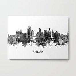 Albany New York Skyline BW Metal Print