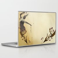 crane Laptop & iPad Skins featuring Crane  by Devon Busby Busbyart