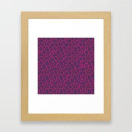 Plum Raspberry Giraffe Framed Art Print