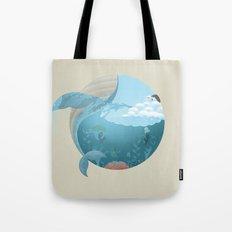 Whale Jump Tote Bag
