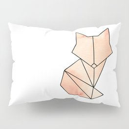 Geometric Fox - Orange Pillow Sham