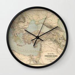 Turkey, Balkan Peninsula Map (1855) Wall Clock