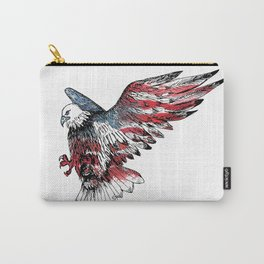 Watercolor bald eagle symbol of the United States Carry-All Pouch