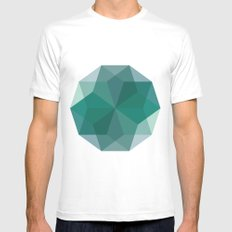 Shapes 011 White Mens Fitted Tee MEDIUM