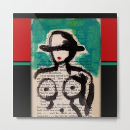 Girl With Hat 4 by Kathy Morton Stanion Metal Print