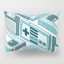 90's pattern-blue Pillow Sham