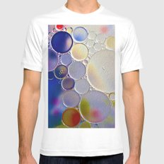 Bubbles Paint 2 MEDIUM White Mens Fitted Tee