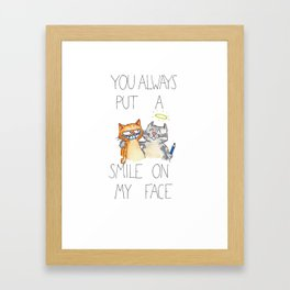 You put a smile on my face by Nicole Janes Framed Art Print