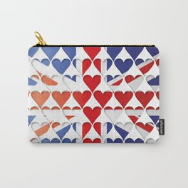 UK Hearts Flag Carry-All Pouch