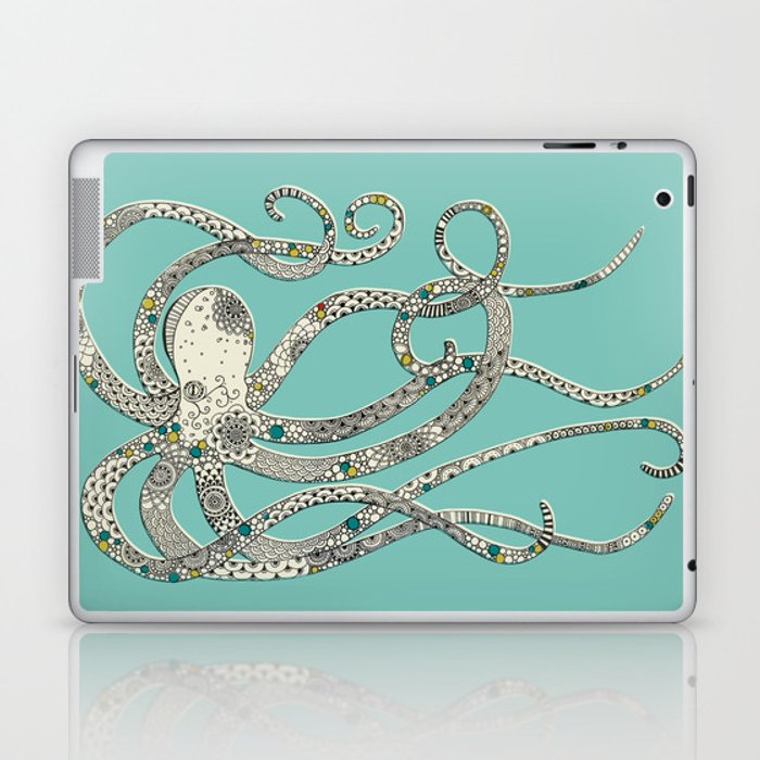 Green Octopus Laptop & iPad Skin