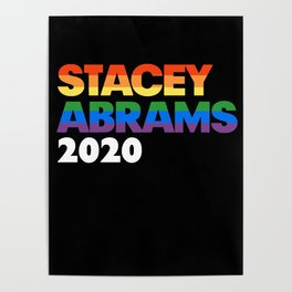 Stacey Abrams 2020 President - LGBT Rainbow Sticker Poster