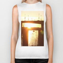 Sunset over the Cambie Bridge Biker Tank