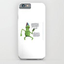 yer a wizard kermit iPhone Case