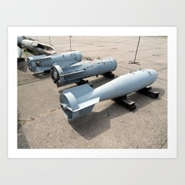 Armament of aircraft and helicopters rockets, bombs, cannons Art Print