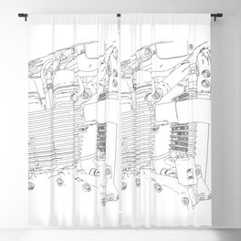 bonney drawing Blackout Curtain