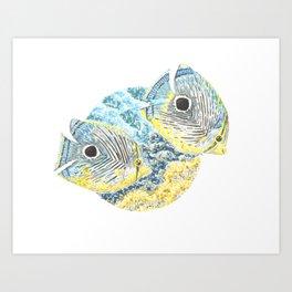 Four Eyed Butterfly Art Print