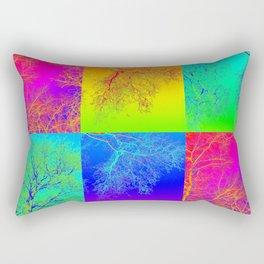 Botanic Gardens - Australia - Tree Art by Australian Artist Catherine Jacobs - Andy Warhol style Rectangular Pillow
