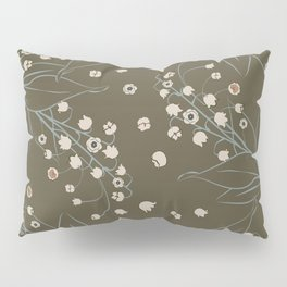 Lily of the Valley_olive Pillow Sham