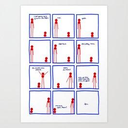 Le plus grand et le plus petit et le défi - page 4-4 Art Print