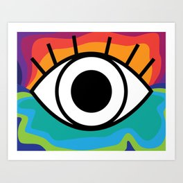 Bright Rainbow Eye Design Art Print