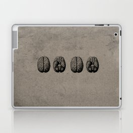 Row o' Brains - Engraving - Vintage - Old Black, White & Brown Laptop & iPad Skin