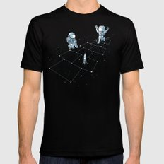 Hopscotch Astronauts Mens Fitted Tee Black MEDIUM