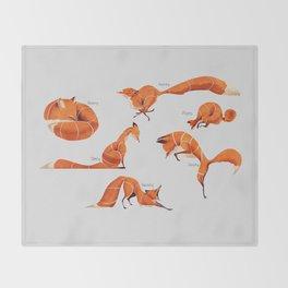 Fox poses Throw Blanket
