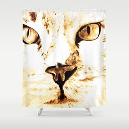 Cat with an attitude Shower Curtain