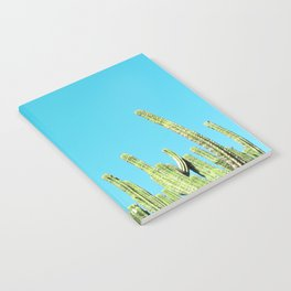 Desert Cactus Reaching for the Blue Sky Notebook