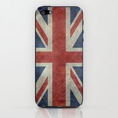 England's Union Jack, Dark Vintage 3:5 scale iPhone & iPod Skin