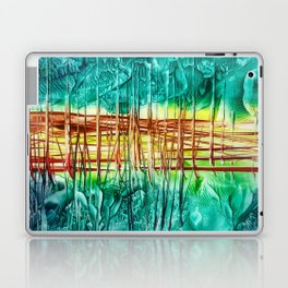 Two choices/ Jump over the Fence, Encaustic Laptop & iPad Skin