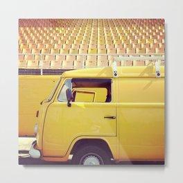 yellow/yellow Metal Print