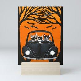 A Spooky Halloween Drive Mini Art Print