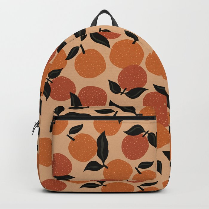 Seamless Citrus Pattern / Oranges Backpack