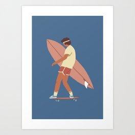 Surf poster Art Print