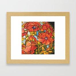 Red Poppy Lamp Framed Art Print