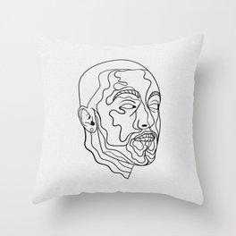 Larry Fisherman Throw Pillow