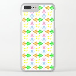 symmetric patterns 104 with a multicolor wheat pattern Clear iPhone Case