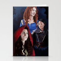 ouat Stationery Cards featuring Warrior Women of OUAT by Christine Ring