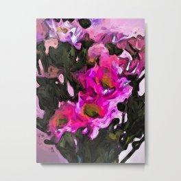 Flowers of Pink and Black 3 Metal Print