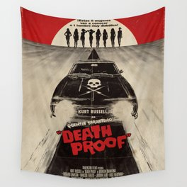 Death Proof Movie Poster Written And Directed By Quentin Tarantino Spanish Version Artwork, Posters, Wall Tapestry