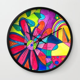 Burst of colours in Spring Wall Clock