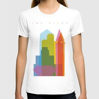 san diego T-shirts featuring Shapes of San Diego by Glen Gould