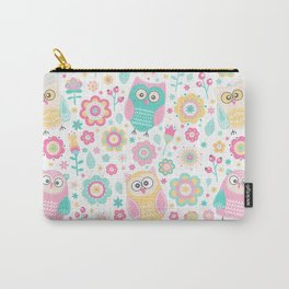 Pretty Pastel Owls Girls Animal Pattern Carry-All Pouch