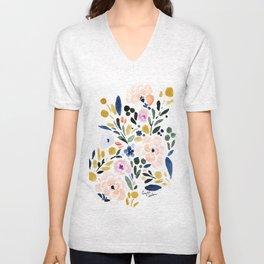 Sierra Floral Unisex V-Neck
