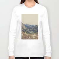 buildings Long Sleeve T-shirts featuring Mountain Flowers by Kurt Rahn