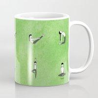 namaste Mugs featuring Namaste. by Robyn Smith