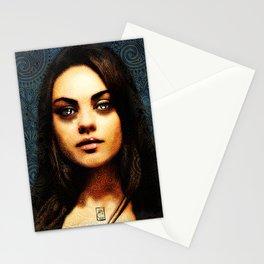 Portrait of Mila Kunis #1 Stationery Cards